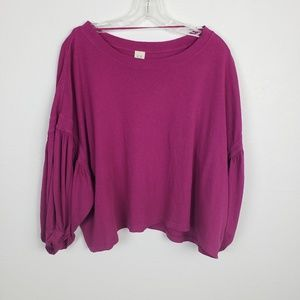 We The Free |Free people Oversized purple crop top